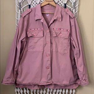 GAP dusty pink army jacket